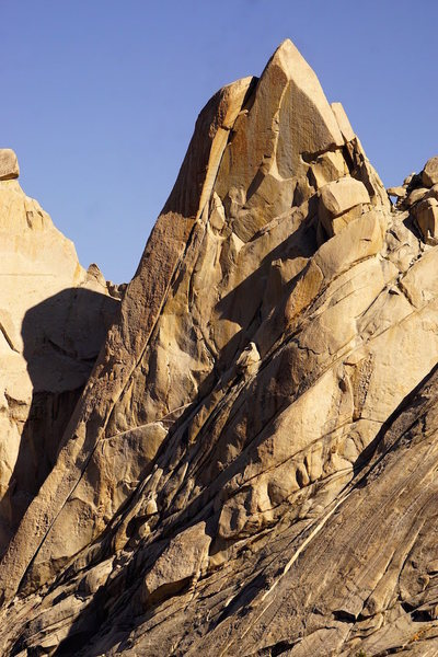 Rock Climbing Photo: South Face, wild west crack the obvious line. Vita...