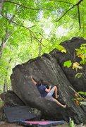 "Rock Climbing Photo: Keith Shockley on ""Thunder Mammal""(V4)"