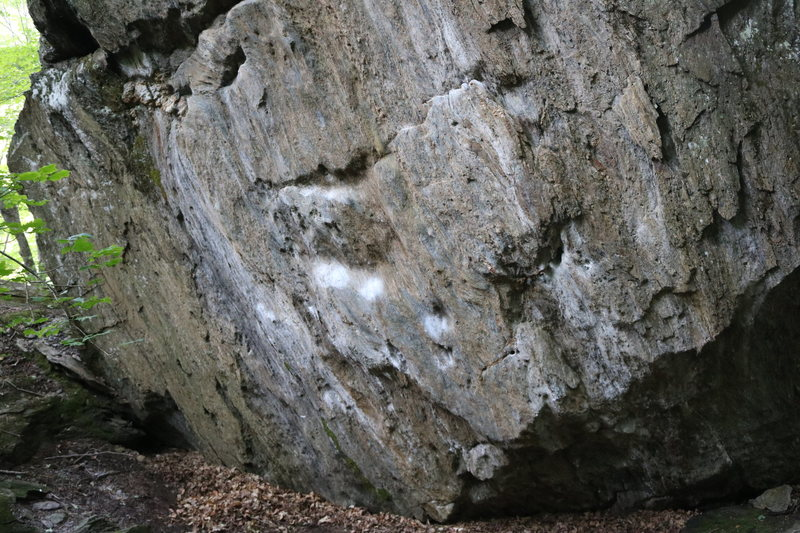 Rock Climbing Photo: This is the hardest line on the boulder