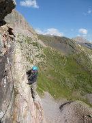 Rock Climbing Photo: On a ledge high up.