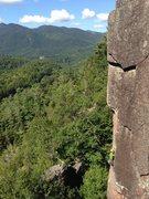 Rock Climbing Photo: Kyle Peet coming up Esthesia.