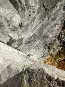 Rock Climbing Photo: Making headway up the exposed arête - towards the...