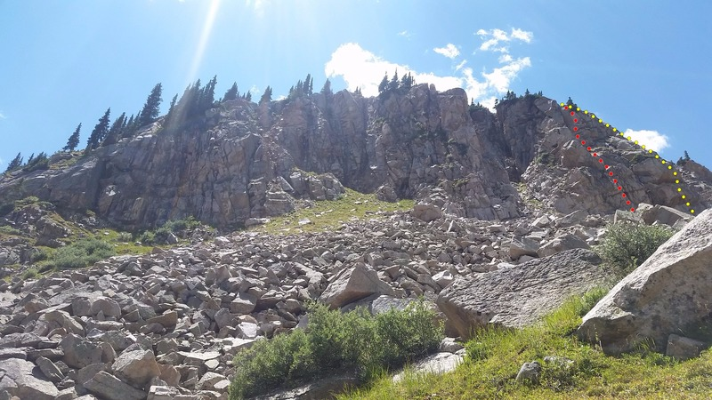Rock Climbing Photo: The Main Buttress from the talus field. Nate's...