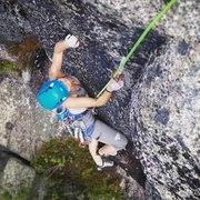 Rock Climbing Photo: torie following