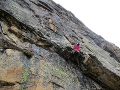 Rock Climbing Photo: noriko passing the first roof