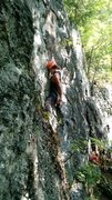Rock Climbing Photo: Franklin chalking up for the business.