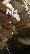 Rock Climbing Photo: Akira finishing the awesome opening sequence.