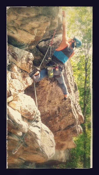 Rock Climbing Photo: Akira pulling outta the nook, stylin' courtesy...