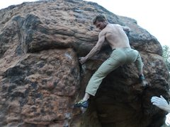 Another old shot... I get in to the biz of the problem. Tricky, high, and thoughtful crux.