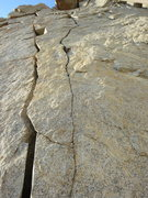 Rock Climbing Photo: Upper section dual cracks.
