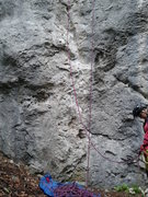 Rock Climbing Photo: The start of Wasserrillen and Ikarus.