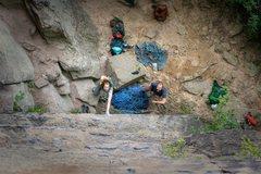 Rock Climbing Photo: Jen and Joe getting started on Eureka