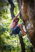 Rock Climbing Photo: John Hood rockin' it on Check Your Grip @ PMRP...