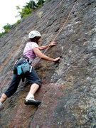 "Rock Climbing Photo: S. Matz TR-ing ""4th of July"" She approac..."
