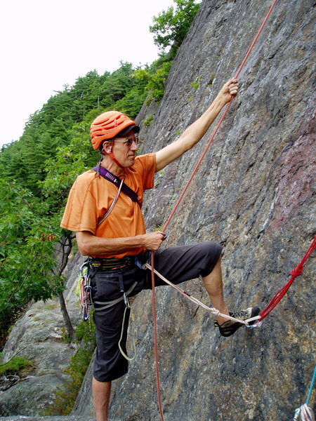 "Ben Townsend TR-belaying on ""4th of July"""