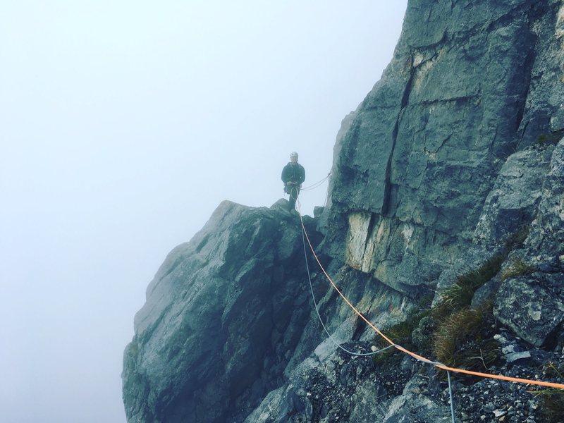 Rock Climbing Photo: Traverse on Generosity, EEOR.