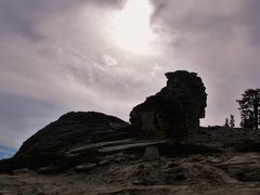 Rock Climbing Photo: the talon - 40ft featured boulder as it stand in f...
