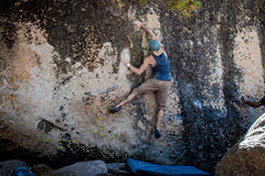 Rock Climbing Photo: Nicholas Rondilone on Buttermilk Face Center. Phot...