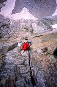 Rock Climbing Photo: The Diamond RMNP.
