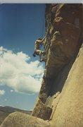 Rock Climbing Photo: Walcott, CO. First climb Ever. 1989.
