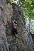 Rock Climbing Photo: Erica at the crux