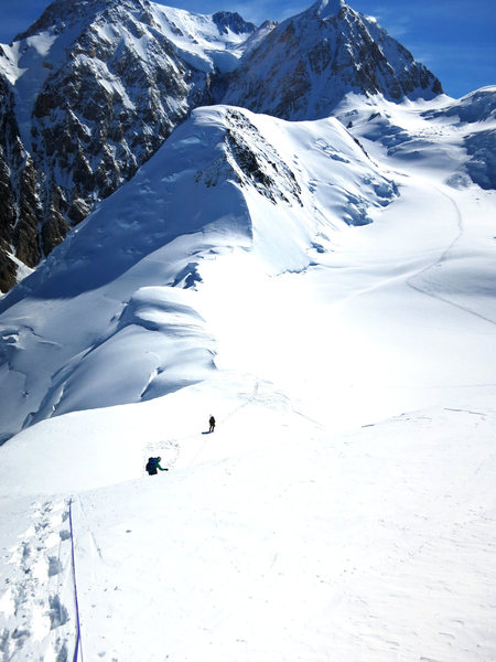 Rock Climbing Photo: Descending Mt. Capps to Kahiltna Pass. The West Bu...