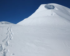 Rock Climbing Photo: Looking towards the summit of Mt. Capps from Kahil...