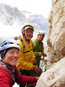Rock Climbing Photo: Doug, Mike, and I climbing at Tre Cime, Italy summ...