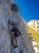 Rock Climbing Photo: Nicolai firing up the majestic splitter second pit...