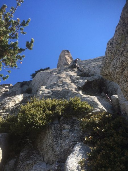 Rock Climbing Photo: Mr. Hammerlander making his way up the start of th...