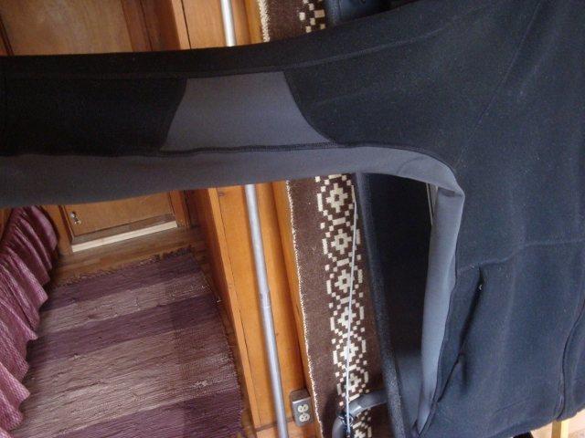 Underarm stretch panels.