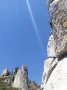 Rock Climbing Photo: Cooper climbing