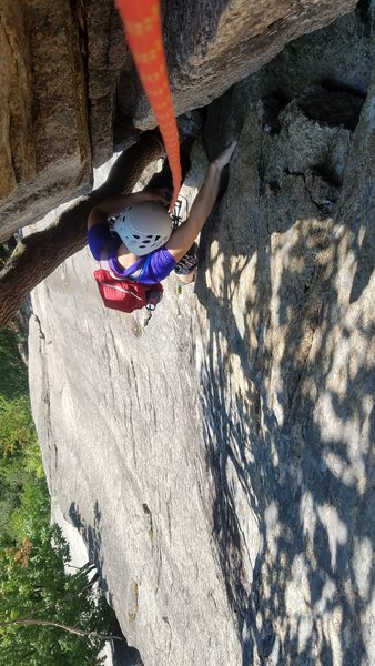 Thin Air (5.6) at Cathedral Ledge