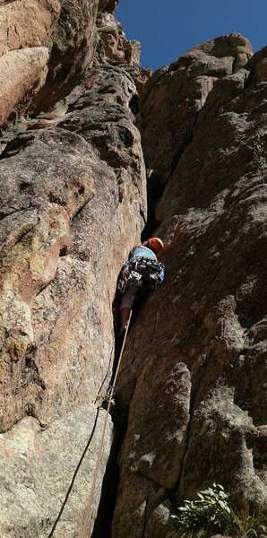 Rock Climbing Photo: Engaging the crux, Laurie Dallenbach experiences s...