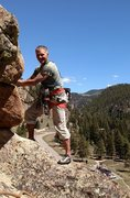 Rock Climbing Photo: Legendary local Joe Melley belaying partner up Air...