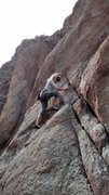 Rock Climbing Photo: Lia Alicia starting up the Crystal Staircase.