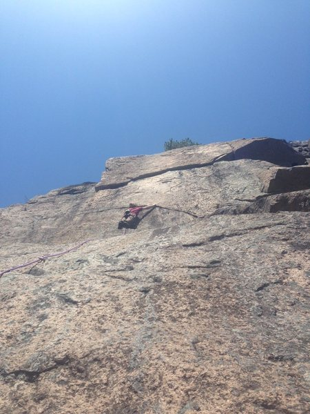 Nate Miller going for the 2nd ascent