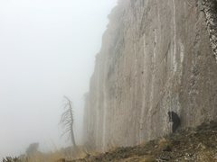 Rock Climbing Photo: Got my Head Wall all up in the clouds