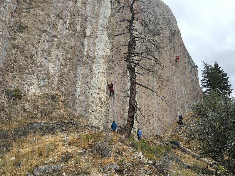 Rock Climbing Photo: Friends on Head Wall