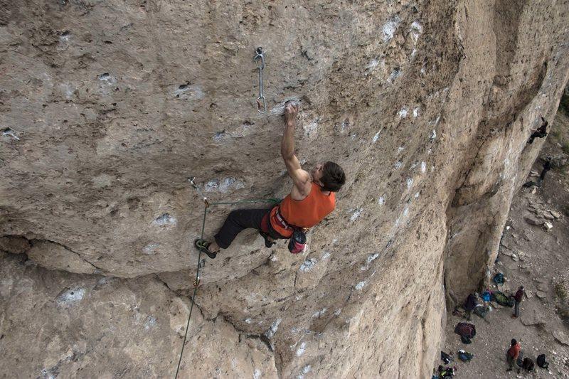 Max getting savage on this rad climb