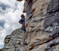 Rock Climbing Photo: Just me at Ruth Lake in the Uinta mountains of Uta...