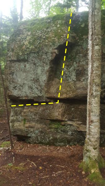 Rock Climbing Photo: Kara (left start), V5.