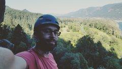 Rock Climbing Photo: Me on Beacon Rock