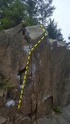 Rock Climbing Photo: Monkey Pants,(left).