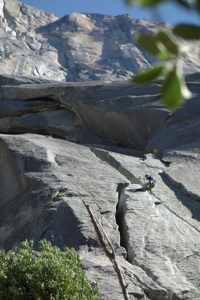Cleaning the Valley Giant #9 on rappel. Cam & photo credit to Aaron Stireman. Thanks Aaron!