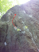 Rock Climbing Photo: General Line of Travel