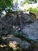 Rock Climbing Photo: Front face of the Rocky Ledges.