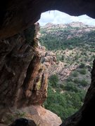 Rock Climbing Photo: Looking out from the cave