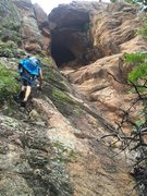 Rock Climbing Photo: walking up into the cave