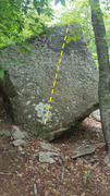Rock Climbing Photo: Unknown Slab, V2-3.